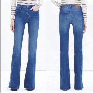 Madewell Flea Market Flare High Rise Raw Hem Jeans